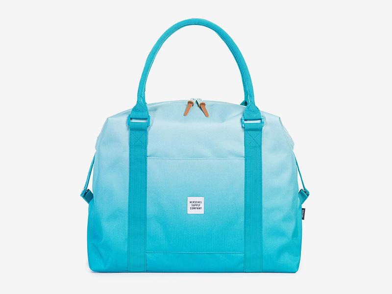 Herschel Supply — taška přes rameno, dámská — modrá, tyrkysová — Strand Duffle — kolekce Gradient