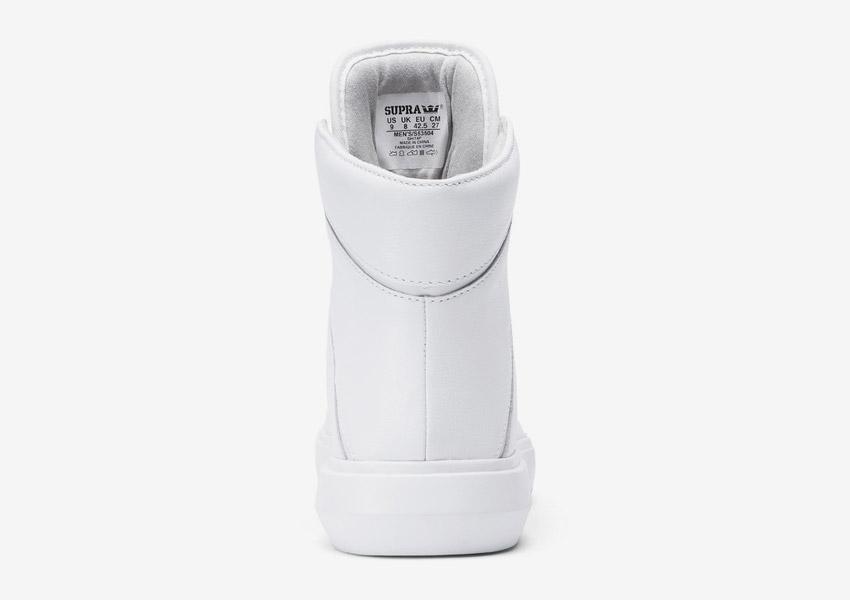 Supra Camino — kotníkové boty — bílé — zadní pohled