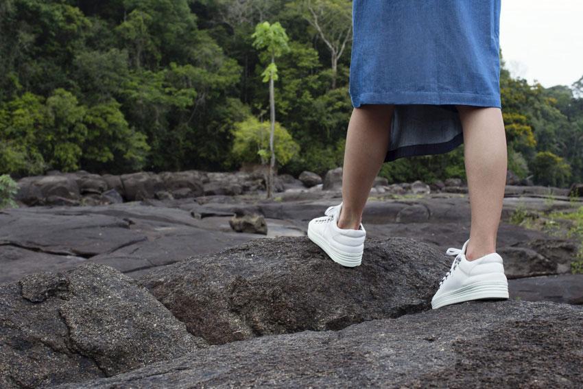 Filling Pieces — bílé tenisky, sneakers, kožené boty — dámské, pánské — lookbook — Metamorphosis — jaro/léto 2016