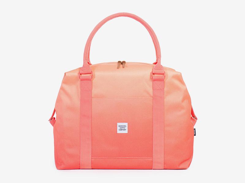 Herschel Supply — taška přes rameno, dámská — oranžová — Strand Duffle — kolekce Gradient