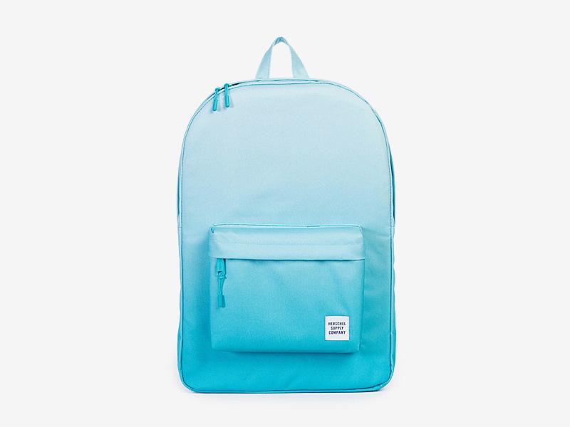 Herschel Supply — plátěný batoh na záda — tyrkysový, modrý — Classic Backpack — kolekce Gradient