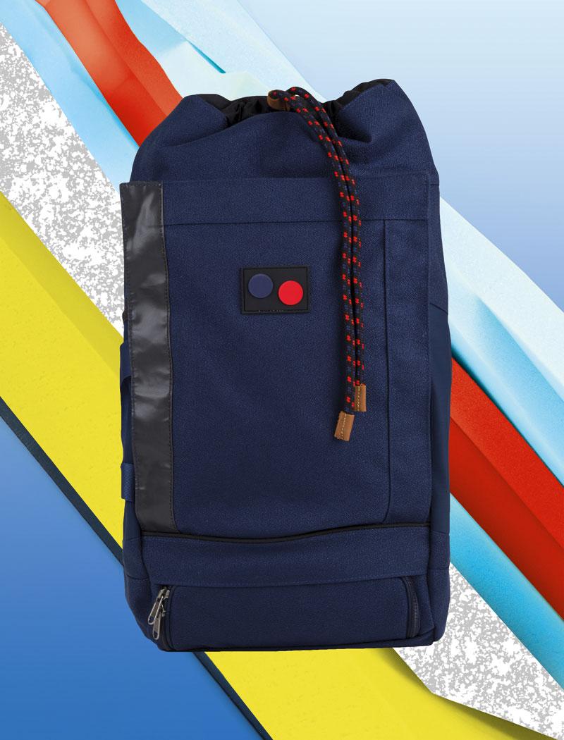 Pinqponq — modrý batoh, recyklovaný z PET lahví — plátěný — lookbook 2016