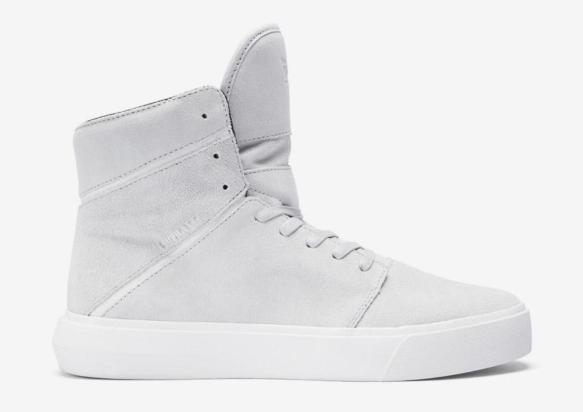 Supra Camino — kotníkové boty — světle šedé — vysoké sneakers, semišové tenisky — dámské, pánské — High Tops