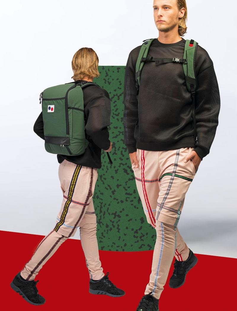 Pinqponq — zelený batoh z pet lahví — plátěný — lookbook 2016
