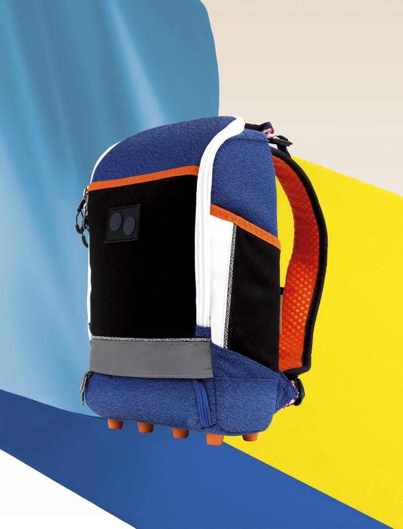 Pinqponq — modrý batoh na záda, recyklovaný z PET flašek — plátěný — lookbook 2016