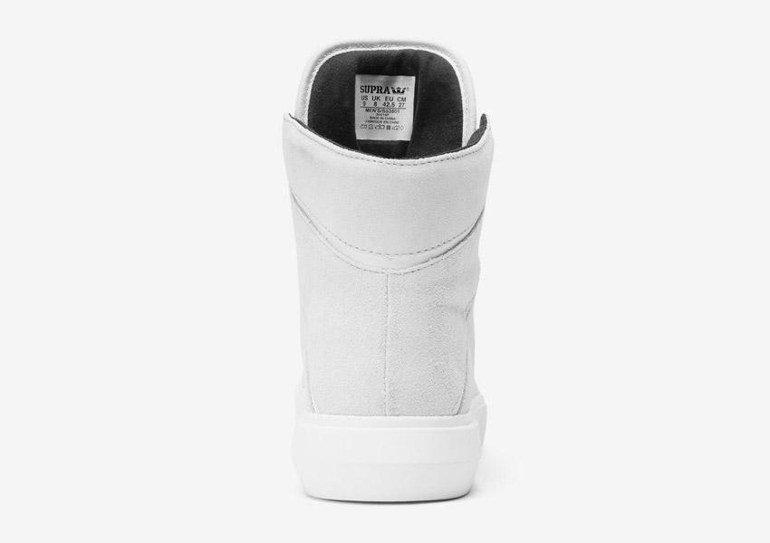 Supra Camino — kotníkové boty — světle šedé — zadní pohled