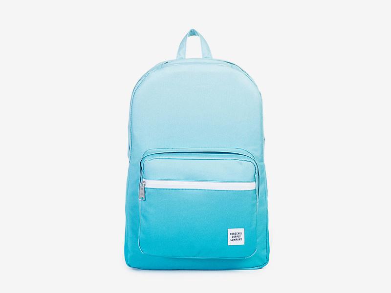 Herschel Supply — batoh na záda, plátěný — modrý, tyrkysový — Pop Quiz Backpack — kolekce Gradient