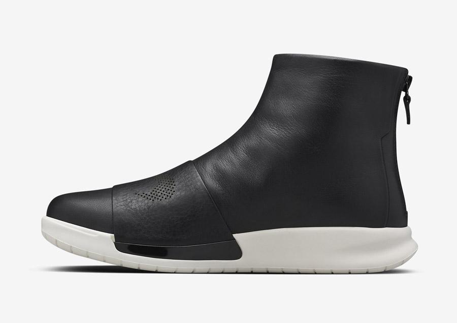 NikeLab Benassi Lux Boot — luxusní kotníkové vysoké boty — dámské — černé, bílé