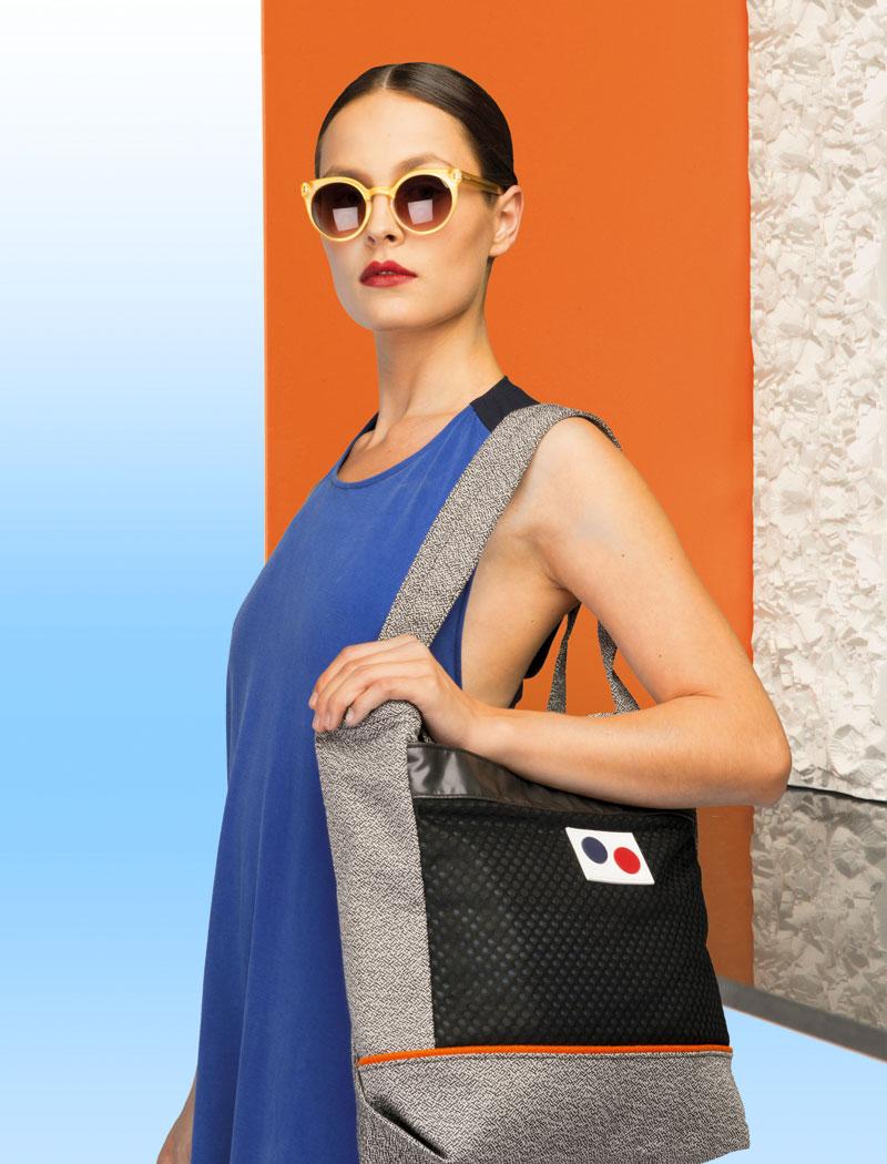 Pinqponq — dámská taška přes rameno — recyklovaná z PET lahví — lookbook 2016