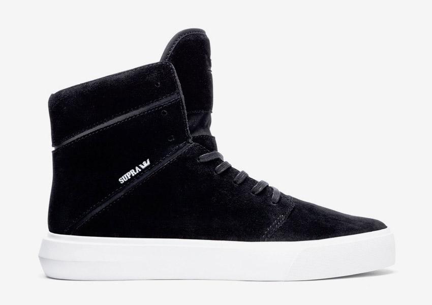Supra Camino — kotníkové boty — černé — vysoké sneakers, semišové tenisky — dámské, pánské — High Tops