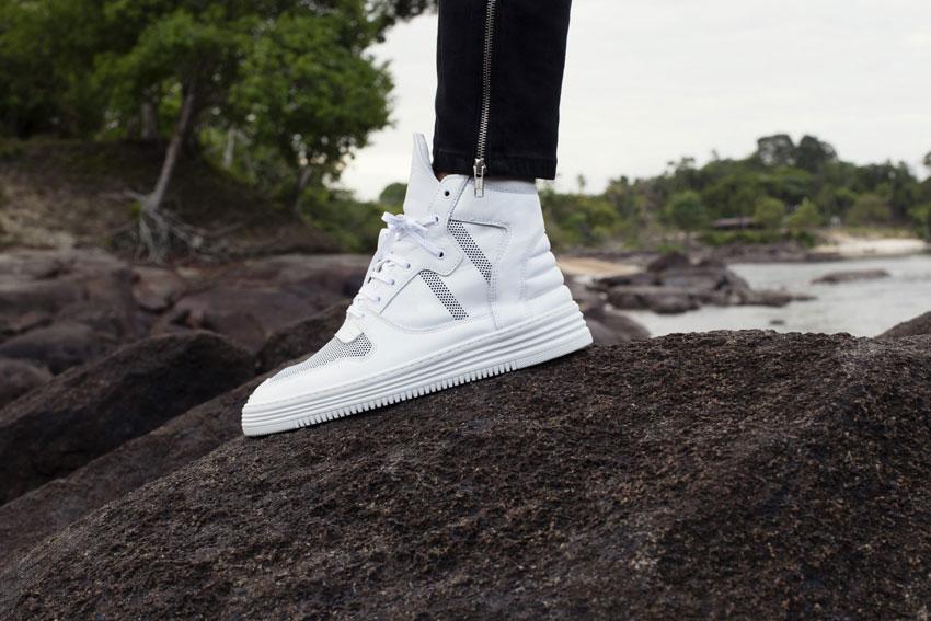 Filling Pieces — luxusní kotníkové boty, bílé sneakers, tenisky — pánské, dámské — lookbook — Metamorphosis — jaro/léto 2016