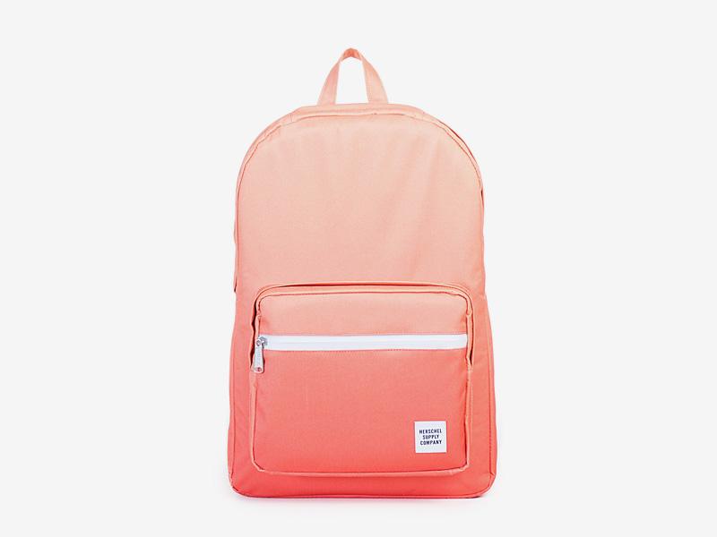 Herschel Supply — batoh na záda, plátěný — oranžový — Pop Quiz Backpack — kolekce Gradient