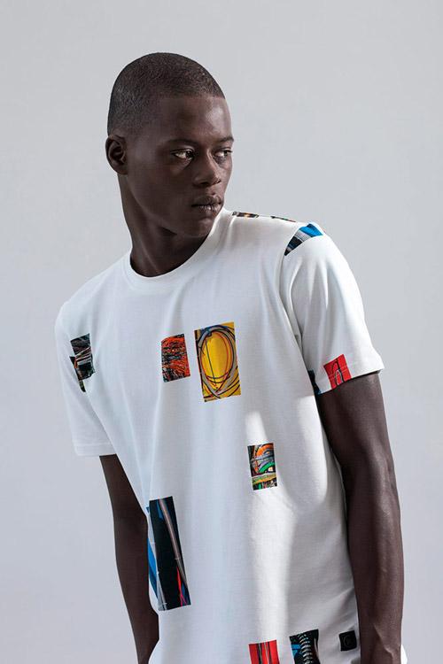 Ucon Acrobatics — bílé tričko s potiskem — pánské — lookbook — jaro/léto — spring/summer 2016