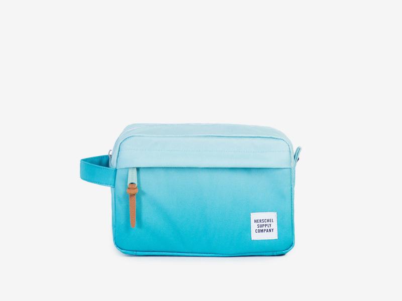 Herschel Supply — cestovní toaletní taštička — modrá, tyrkysová — Chapter Travel Kit — kolekce Gradient