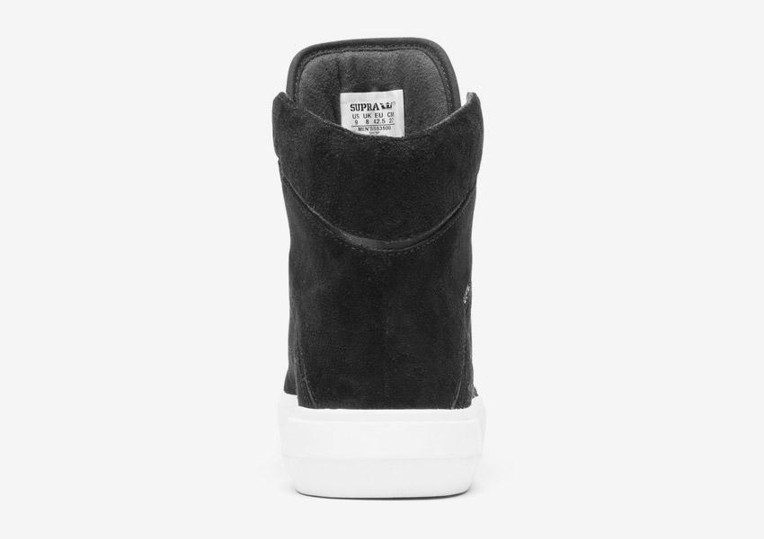 Supra Camino — kotníkové boty — černé — zadní pohled