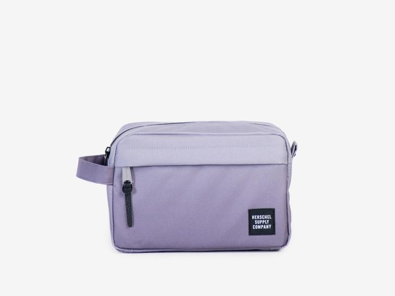Herschel Supply — cestovní toaletní taštička — fialová — Chapter Travel Kit — kolekce Gradient