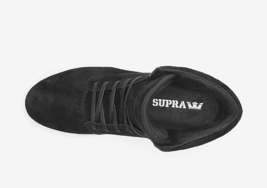 Supra Camino — kotníkové boty — černé — horní pohled