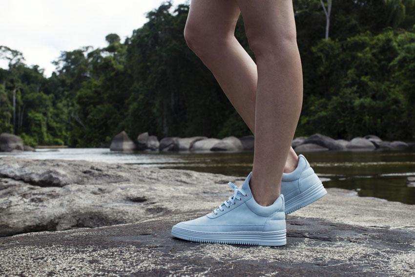 Filling Pieces — bledě modré boty, luxusní tenisky, sneakers — dámské, pánské — lookbook — Metamorphosis — jaro/léto 2016