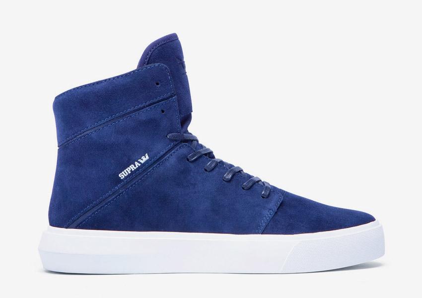 Supra Camino — kotníkové boty — modré — vysoké sneakers, semišové tenisky — dámské, pánské — High Tops