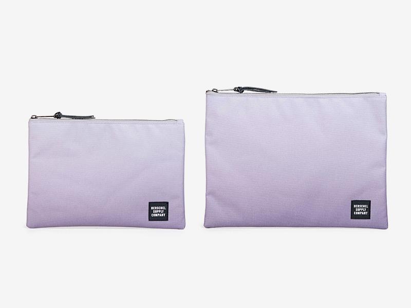 Herschel Supply — fialové (tyrkysové) pouzdro na doklady, taštička, spisovka — Network Pouch — kolekce Gradient