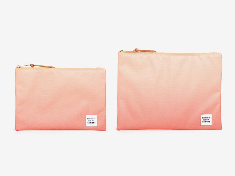 Herschel Supply — oranžové (tyrkysové) pouzdro na doklady, taštička, spisovka — Network Pouch — kolekce Gradient