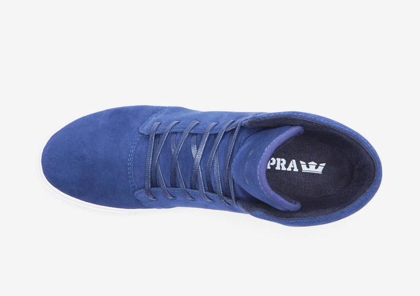 Supra Camino — kotníkové boty — modré — horní pohled