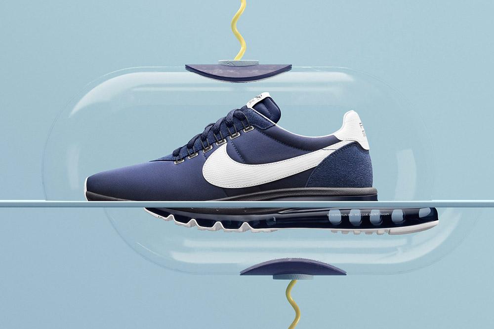 Nike Air Max LD-Zero H — Obsidian/White — fialové boty, tenisky, sneakers — Airmaxy — pánské, dámské — Hiroshi Fujiwara