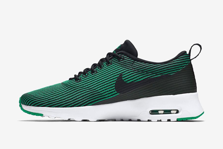 Nike Air Max Thea Jacquard — dámské boty pruhované — zelené — tenisky, sneakers — textilní, veganské