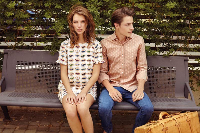 Compania Fantastica — dámské tričko s klobouky, pánská košile s dlouhám rukávem — retro móda — lookbook — jaro/léto 2016