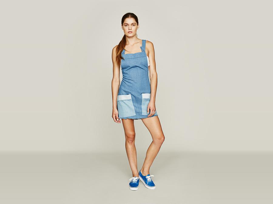 Stussy — overal s lacly, jeansový, džínový — modrý — dámský — dámské oblečení — jaro 2016