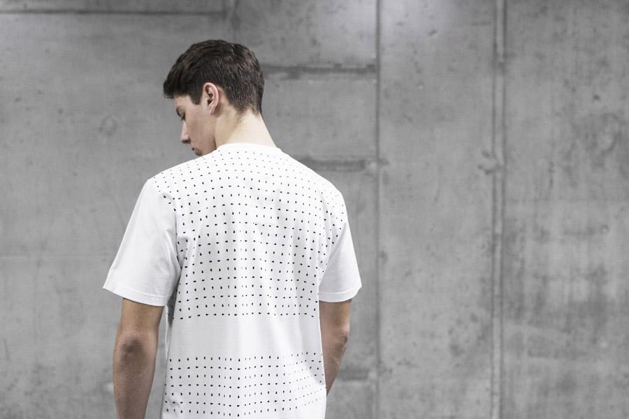 Backyard Cartel — pánské bílé tričko s černými symboly — pánské oblečení, street móda — kolekce Scissors — 1. část