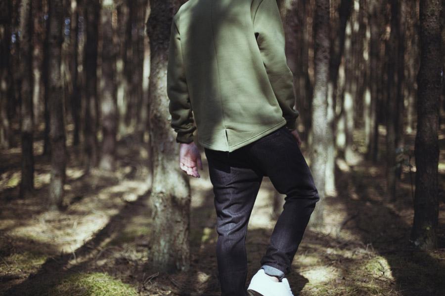 Backyard Cartel — zelená mikina s kapsičkou na zip, army green — pánská — pánské oblečení, street móda — kolekce Paper