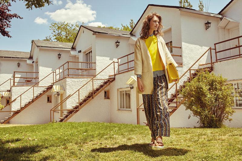 Compania Fantastica — dlouhá sukně, květinový motiv, smetanový kabátek — retro móda — lookbook — jaro/léto 2016