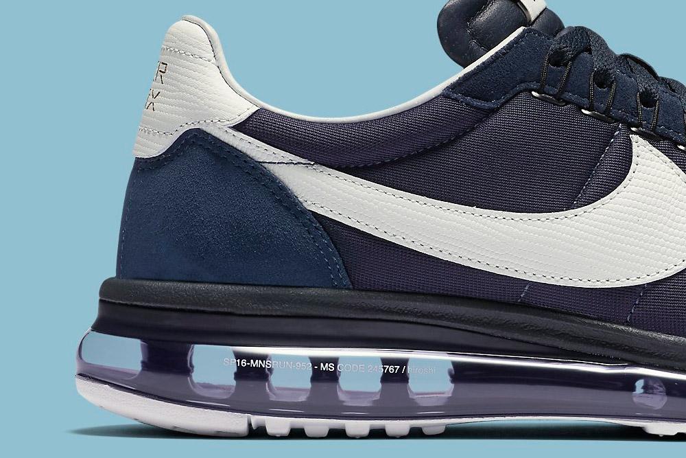 Nike Air Max LD-Zero H — Obsidian/White — detail, zadní část — fialové boty, tenisky, sneakers
