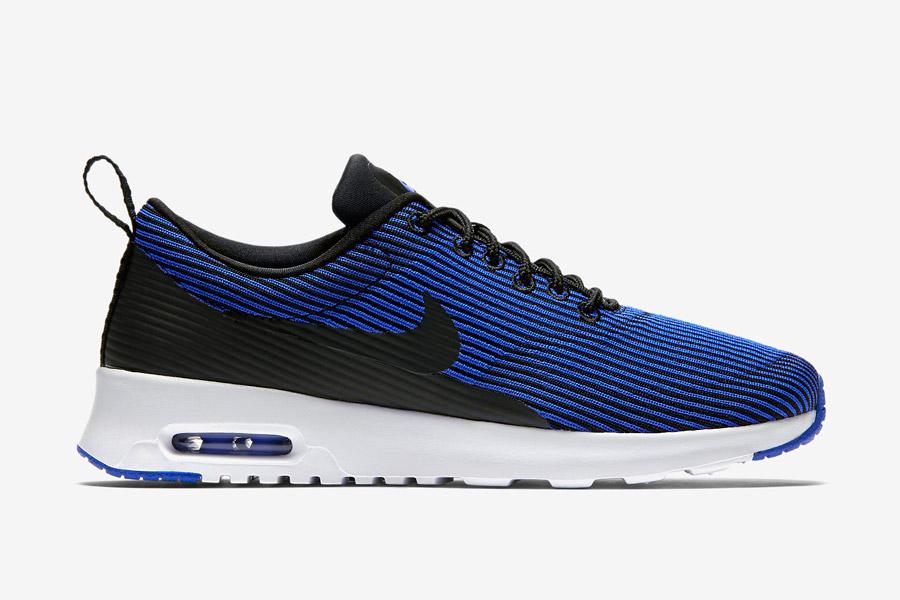Nike Air Max Thea Jacquard — dámské boty — modré — proužkované tenisky, sneakers — textilní, veganské