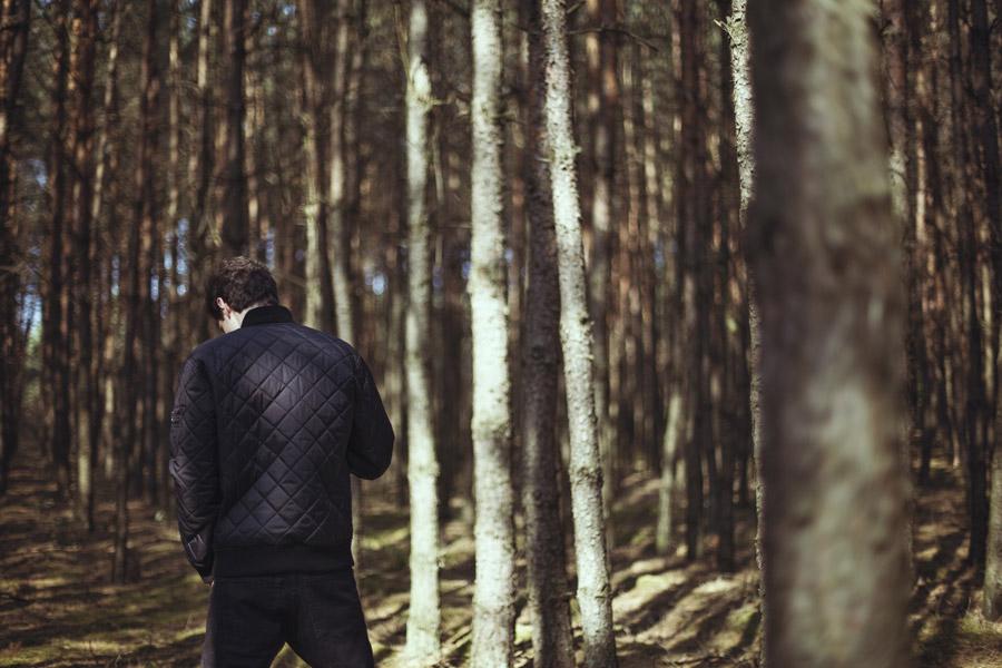 Backyard Cartel — prošívaná bunda do pasu, černá — pánská — pánské oblečení, street móda — kolekce Paper