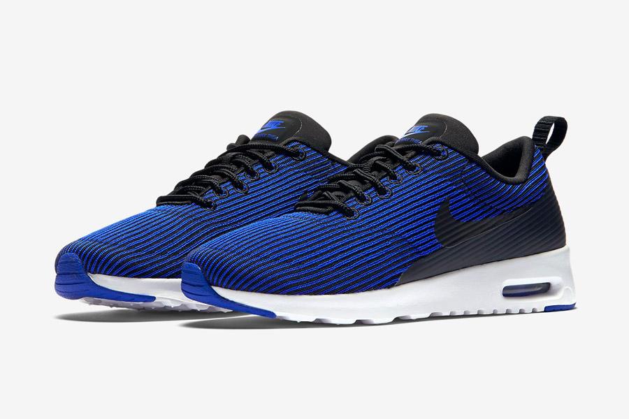 Nike Air Max Thea Jacquard — dámské boty — modré — pruhované tenisky, sneakers — textilní, veganské