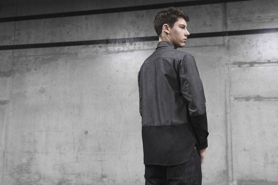 Backyard Cartel — šedo-černá košile — pánská — pánské oblečení, street móda — kolekce Scissors — 1. část