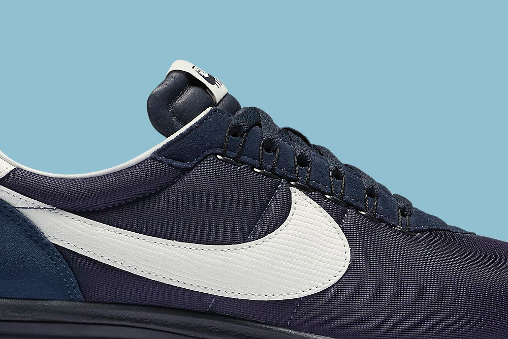 Nike Air Max LD-Zero H — Obsidian/White — detail, horní část — fialové boty, tenisky, sneakers
