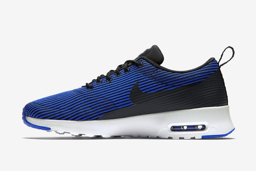 Nike Air Max Thea Jacquard — dámské proužkované boty — modré — tenisky, sneakers — textilní, veganské