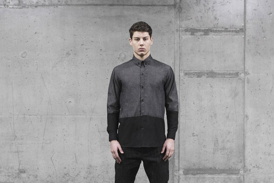 Backyard Cartel — pánská košile — šedo-černá — pánské oblečení, street móda — kolekce Scissors — 1. část
