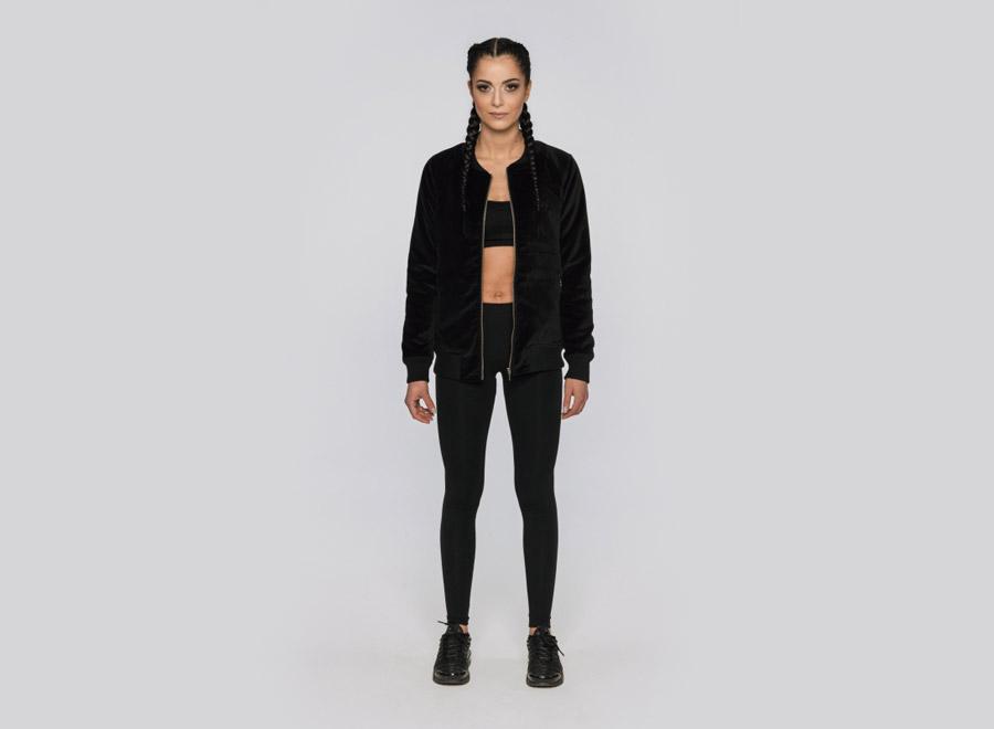 Blackfox — černý bomber — dámská bunda do pasu — sportovní oblečení, streetwear, activewear