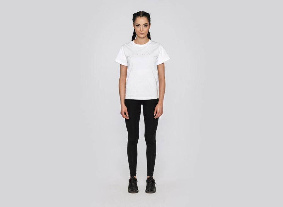 Blackfox — bílé tričko s krátkým rukávem — dámské — sportovní oblečení, streetwear, activewear