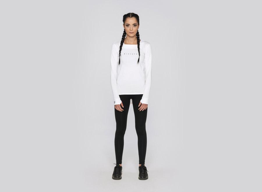 Blackfox — bílé tričko s dlouhým rukávem — dámské — sportovní oblečení, streetwear, activewear