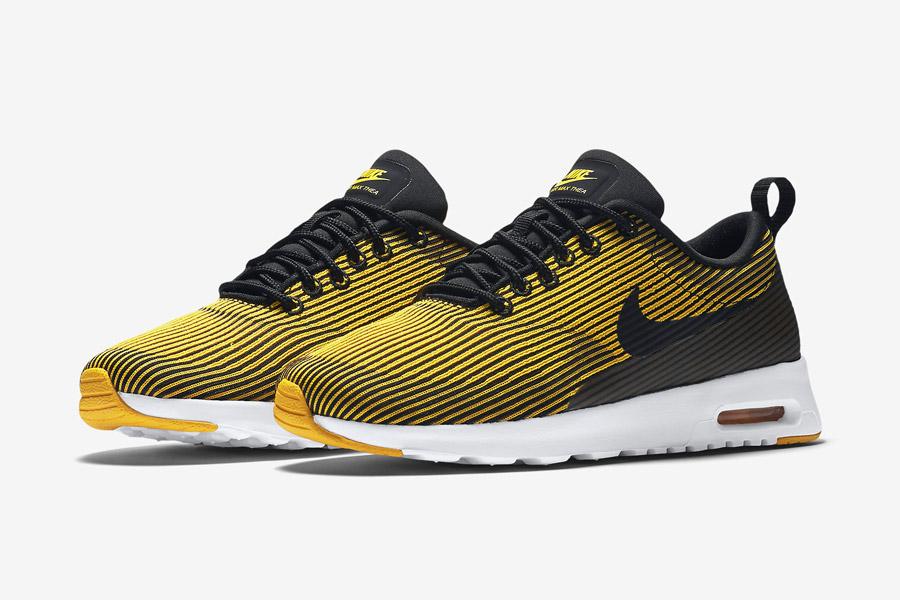 Nike Air Max Thea Jacquard — dámské boty — žluté — tenisky s pruhy, sneakers — textilní, veganské
