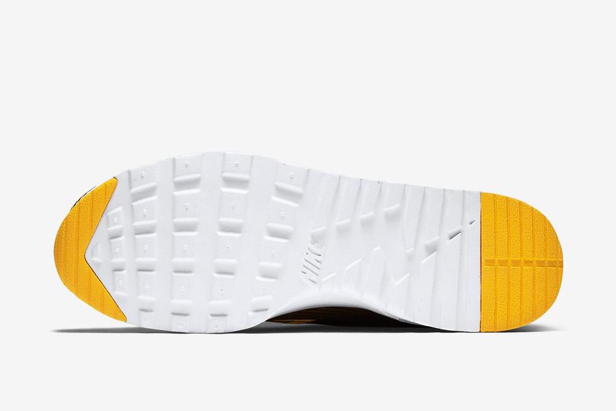 Nike Air Max Thea Jacquard — dámské boty — žluto-bílá podrážka — tenisky, sneakers s proužky — textilní, veganské