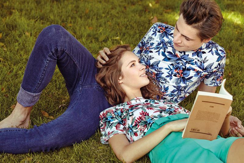 Compania Fantastica — dámské a pánské tričko s rostlinným motivem — retro móda — lookbook — jaro/léto 2016