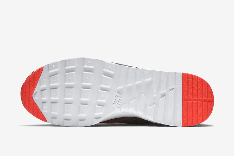 Nike Air Max Thea Jacquard — dámské boty — černo-bílá podrážka — tenisky, pruhované sneakers — textilní, veganské