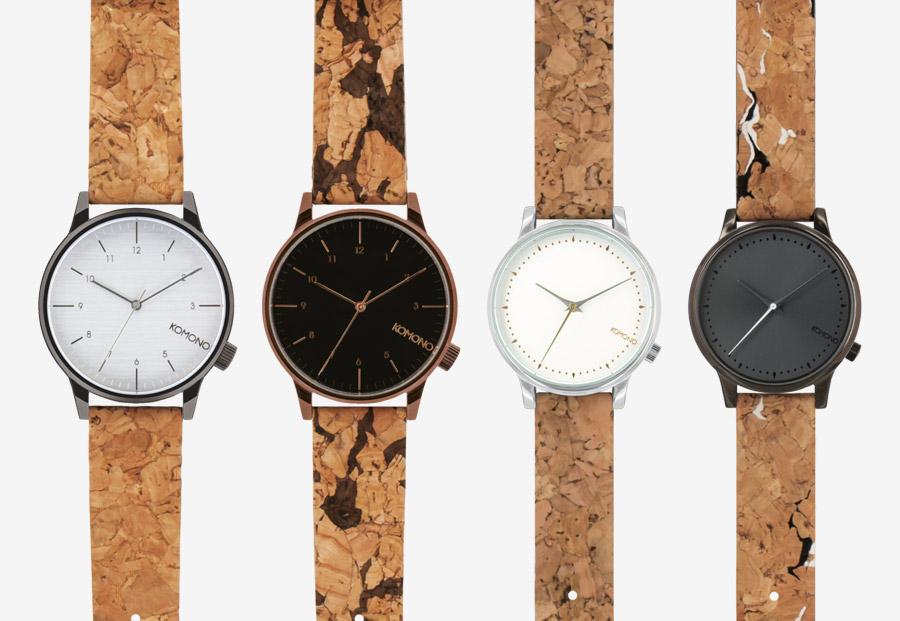 Komono Cork — hodinky Winston/Estelle s korkovými náramky