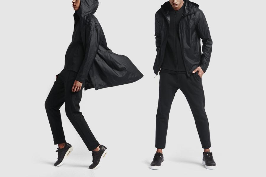 NikeLab Transform Jacket — dvojité sportovní bundy — černé — pánské, dámské